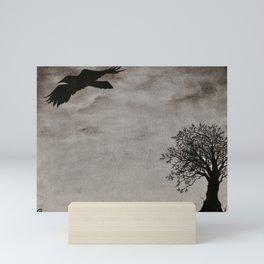 Flying Crow Mini Art Print