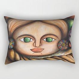 Market Girl Rectangular Pillow