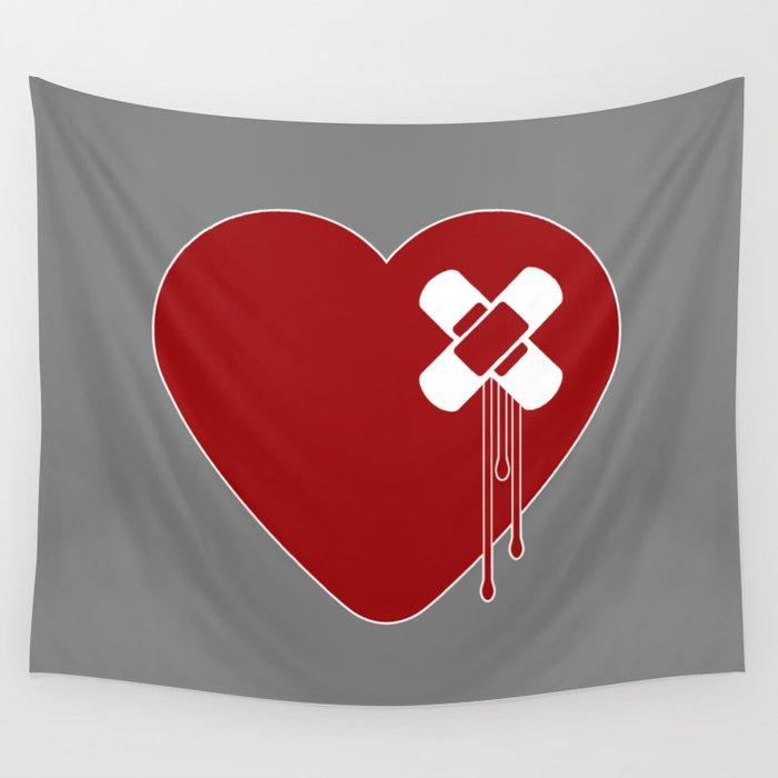 Heart Broken Wall Tapestry