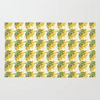 sunflower Area & Throw Rugs featuring Sunflower by Cindy Lou Bailey