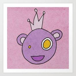 Slightly Amused Monsters, II Princess Purple Art Print