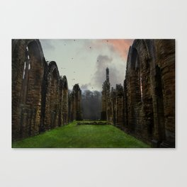 Finchale Abbey at Sunset Canvas Print