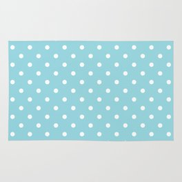 Sky Blue with White Polka Dots Rug