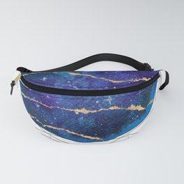 Blue and gold galaxy Fanny Pack