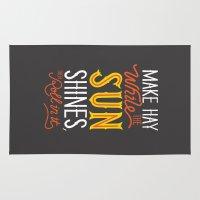 sunshine Area & Throw Rugs featuring Sunshine by Wharton