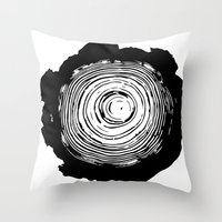 tree rings Throw Pillows featuring Tree Rings by vogel