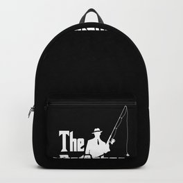 The Rodfather. Funny Fishing design for Fisherman Backpack