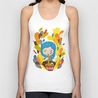 ramen Tank Tops featuring I love ramen by inkdesigner