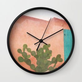 Strong Desert Cactus Wall Clock