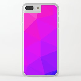 Magenta and Violet Low Poly Pattern Clear iPhone Case
