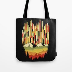 Sunset in Vertical Tote Bag
