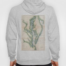 Vintage Map of The Chesapeake Bay (1873) Hoody