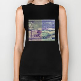Abstract colored boards pattern Biker Tank