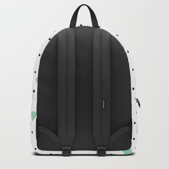 Pin Point Hearts Mint Backpack