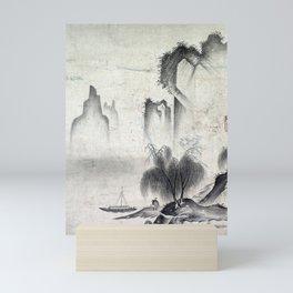 Kannan Figure Mooring a Boat Mini Art Print