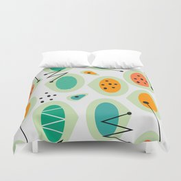Mid-century abstraction Duvet Cover