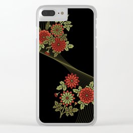Chrysanthemum wave Clear iPhone Case