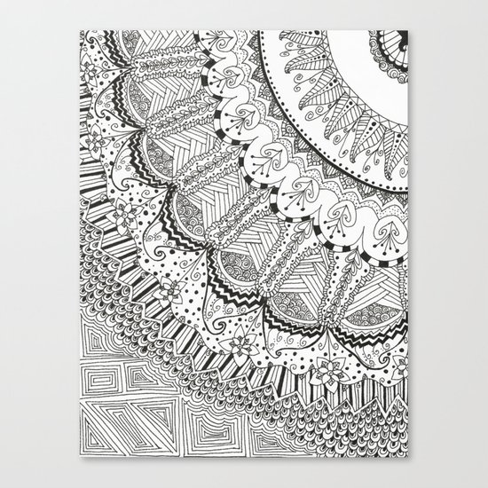 Doodle Madness Canvas Print
