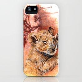 Sweet Dreams - Baby Lion Cub iPhone Case