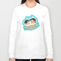 sterek Long Sleeve T-shirts featuring sterek by oh, wolves
