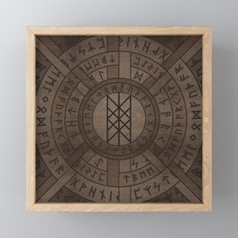 Web of Wyrd The Matrix of Fate- Wooden Texture Framed Mini Art Print