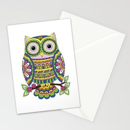 Owl Doodle Stationery Cards