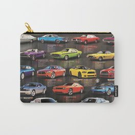 Charger - Challenger History Automotive Evolution Poster Carry-All Pouch