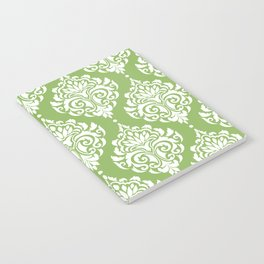 Green Damask Notebook