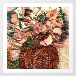Floral Bouquet Watercolour Art Print