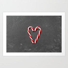Love Peppermint Heart (Color) Art Print