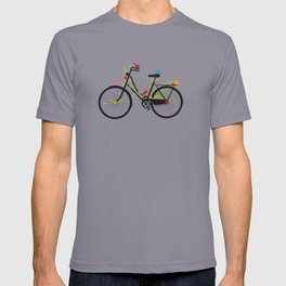 Old bicycle with birds T-shirt