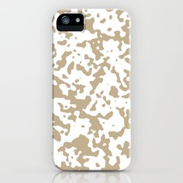 Spots - White and Khaki Brown iPhone Case