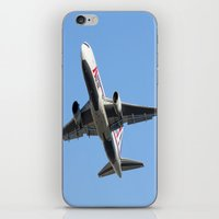 airplanes iPhone & iPod Skins featuring ABX Air Boeing 767-232(BDSF) Miami Take-off Florida Airplanes  by Yan David