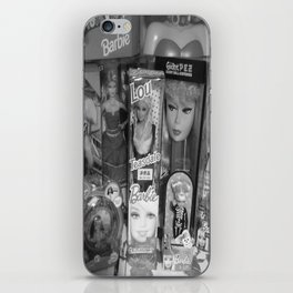 #BarbieLou with tomodachi b/w iPhone Skin