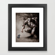 Stitch VS Venom Framed Art Print