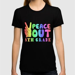 Funny Peace Out 8th Grade TShirt First Last Day of School T-shirt