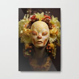 Golden Harvest Muertita Detail Metal Print