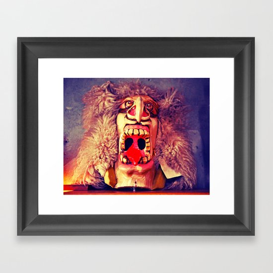 Stonegate mask Framed Art Print