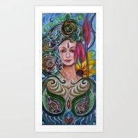 chakra Art Prints featuring Chakra Mandla by Harsh Malik