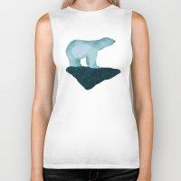 polar bear Biker Tanks featuring Polar Bear by Arts and Herbs
