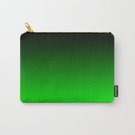 Black Lime Green Neon Nights Ombre Carry-All Pouch