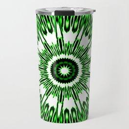 Green White Black Explosion Travel Mug