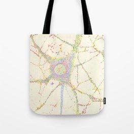 Neuron, brain cell. Tote Bag