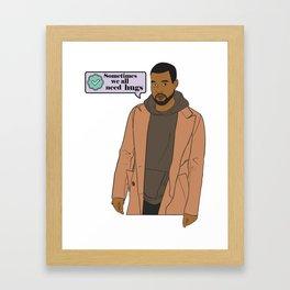 A Man Endowed with Dragon Energy Tweeting his Deepest Feelings Framed Art Print