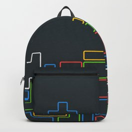 Retro Blocks Video Game Color Pattern Backpack