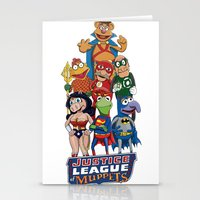 justice league Stationery Cards featuring Justice League of Muppets by JoshEssel