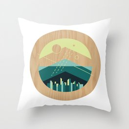 Wooded Trackless Grasslands Throw Pillow