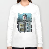 oil Long Sleeve T-shirts featuring Oil Tower by creativebloch.com