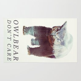 Owlbear (Typography) Rug