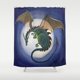Fly Me To The Moon Shower Curtain